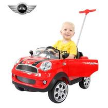 Nuevo Mini Cooper Push Car, Montable Guiado Para Bebe