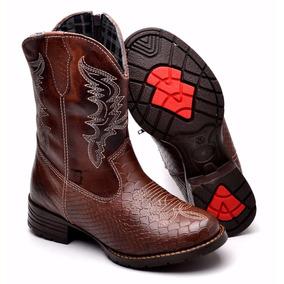 Bota Country Infantil Kids Texana Masculina Em Couro Cowboy e90926c6d10