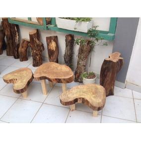 Mesa De Centro / Apoio / Canto Em Tronco De Árvore