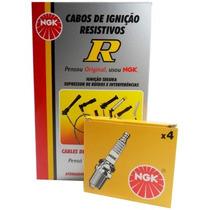 Kit Cabos + Velas Ngk Renault Kangoo 1.0 16v Flex 2005/