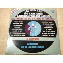 Disco Lp Pistas De Canciones - Karaoke Vicente Fernandez -