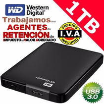 Disco Duro Externo Wd Elements 1tb Passport Ultra Usb 3.0