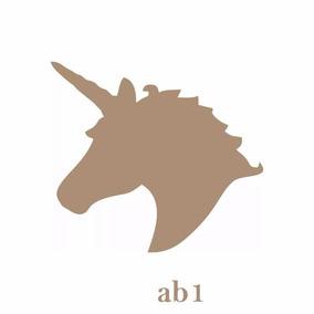 Aplique De Parede Silhueta Unicornio Mdf Cru Cavalos