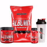 Kit Integralmedica - Albumix + Glutamina + Bcaa + Coque.