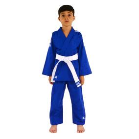 Kimono Judô adidas Infantil Reforçado Azul - 30% Off