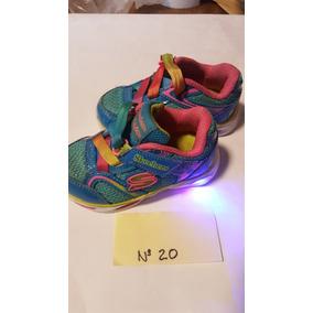 Zapatillas Niña Skechers Nro. 20 Con Luces