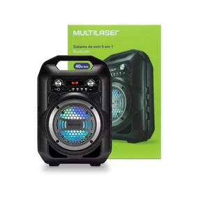 Caixa De Som 6 Em 1 Bluetooth 40w Rms Rádio Fm Multilaser