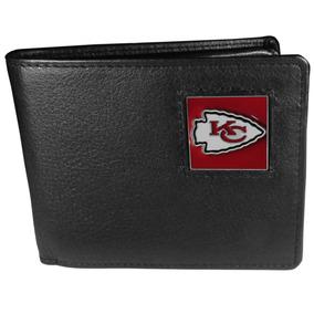 Nfl Kansas City Chiefs Piel Bi-fold Portafolios