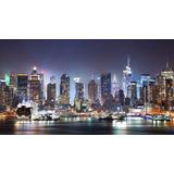 Quadro Nova York Paisagem Cidade Colorido 55x100