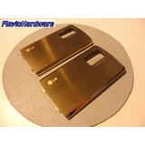 Tapa De Bateria Metalica Para Lg Shine Me970 Ke970 Dorada