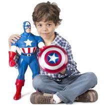 Muñeco Capitan Amercica 55cm, Gigante, Marvel Original!!