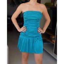 Vestido Sensual Tomara Q Caia Azul Importado Novo T=36/38