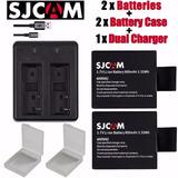 Kit Baterias Cargador Camara Sport Sj4000 Sjcam Sj5000 W9 H3