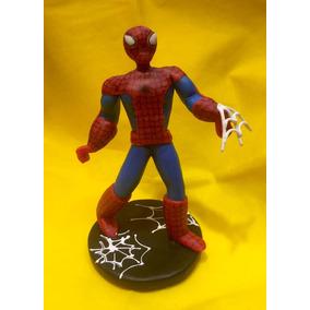Adorno Torta Hombre Araña Spider Man Porcelana Fria