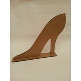 Sapato Salto Mdf Cru 20cmc/base,princesa,cinderela Sapatinho