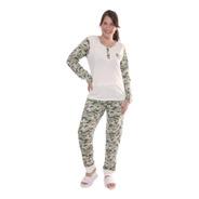 Pijama De Invierno Mujer Talles Grandes 619