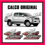 Calco 4x4 Turbo Intercooler Toyota Hilux Calcomania Original