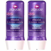 Kit 2 Máscara Moist 3 Minute Miracle Aussie 236ml