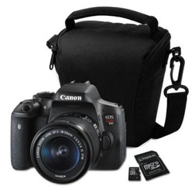 Camara Digital Canon Eos Rebel T6i- 18 X 55- 24,2 Mp-