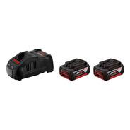 Kit De Cargador Y 2  Baterias  18v  Bosch