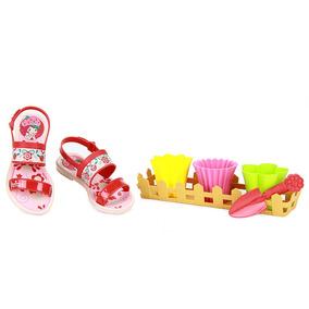 Sandália Infantil Grendene Moranguinho Sweets - Vermelho