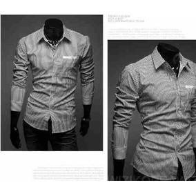 Camisa Social Masculina 3/4 Slim Fit Pronta Entrega Brasil