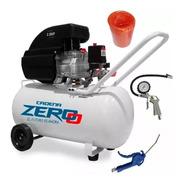 Compresor De Aire 50 Litros 2,5 Hp Zero + Kit Accesorios