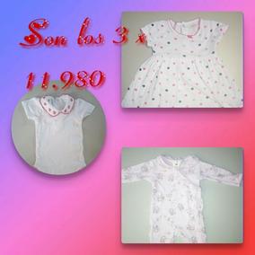 Carters Vestido + Body Epk + Pijama Rosada. 3-6 Meses. Usado