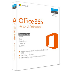 Microsoft Office 365 Personal+1tb De Armazenamento - Anual