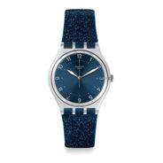 Reloj Swatch Glitter Azul Con Números Mod. Ge269