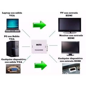 Convertidor De Senal Vga A Hdmi Hd 1080p Envio Gratis