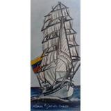 Paisaje/ Buque Escuela Simón Bolivar, Cerámica Al Fuego