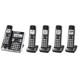 Telefone Sem Fio Panasonic Kx-tg785sk Link2cell 5 Ramais