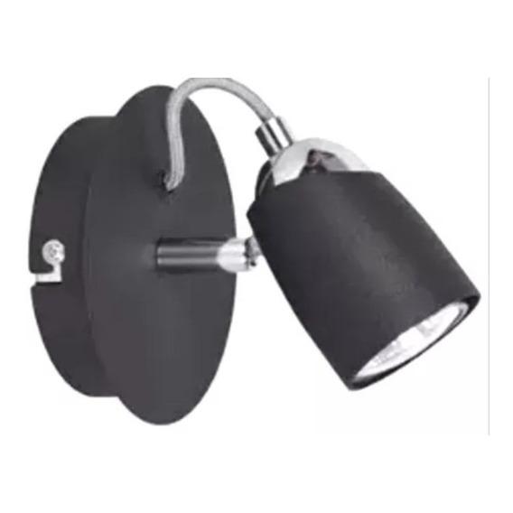 Aplique Konus 1 Negro Con Interruptor Para Dicroica Led Gu10