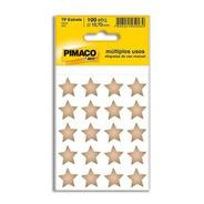 2 Etiqueta Adesiva P/ Codificação Estrela Dourada Pt 100 Un