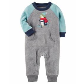 Carters Mameluco Comando Bebe Niña Niño Invierno Pinguino Ro