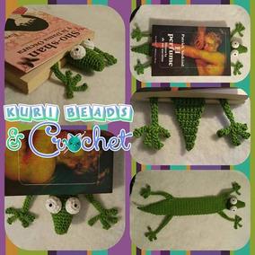 Separador De Libro Lagartija O Gecko Amigurumi Tejido A Cro