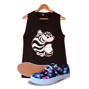 Pack Block Sheep Zapatilla+remera Alice In Wonderland