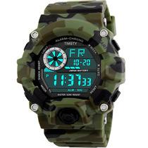 Reloj Digital Impermeable Militar Camuflaje
