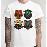 Harry Potter Camisa Casas Filme Camiseta Blusa Unissex Série