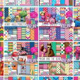 Promoção 330 Kits Scrapbook Print Papeis Fundos Silhouette