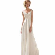 Vestido De Noiva Plus Size, Tamanho 44-46 Bordado, Lindo