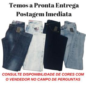 Kit 10 Calça Jeans Sarja Masculina Slim Skinny C Lycra