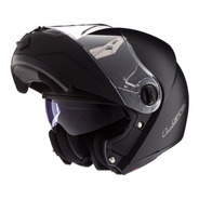 Casco Moto Rebatible Ls2 370 Easy Negro Mate Doble Visor