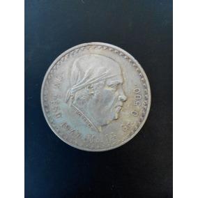 Moneda De Plata Coleccionable Morelos Un Peso 1947 Cachetón