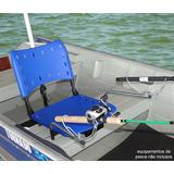 Cadeira Giratória P/ Barco C/ Suporte Guarda-sol E Sup Vara