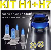 Kit Lampada Super Branca Vectra 99 Diante Farol Duplo H7 H1