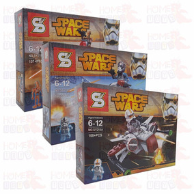 Kit Com Os 3 - Star Space Wars - Compativel Com Lego