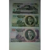 Set De Billetes De Corea Del Norte