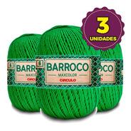 Barbante Barroco Maxcolor 400g N6 5767 Verde Bandeira Kit 3